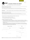 Form Atl - Assumption Of Montana Tax Liabilities