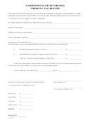 Form Pt-1 - Commonwealth Of Virginia Probate Tax Return