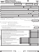 Form 100 - California Corporation Franchise Or Income Tax Return - 2013