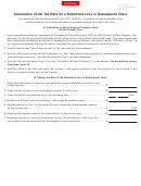 Form Dte 140s - Calculation Of The Tax Rate For A Substitute Levy In Subsequent Years