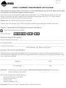 Form Dse - Direct Shipment Endorsement Application