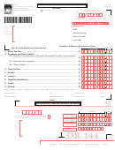 Form Dr-144 - Gas And Sulfur Production Quarterly Tax Return