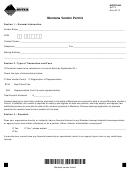 Form Avp-2 - Montana Vendor Permit