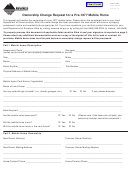 Form Ab-38 - Ownership Change Request For A Pre-1977 Mobile Home