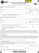 Montana Form Pt-stm - Second-tier Pass-through Entity Owner Statement And Waiver Request