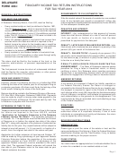 Instructions For Form 400-i - Fiduciary Income Tax Return Instructions - 2013