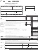 Form 40a - Alabama Individual Income Tax Return - 2012