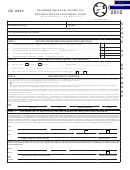 Form De-8453 - Delaware Individual Income Tax Declaration For Electronic Filing - 2012