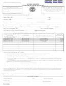Form Rv-f1406401 - Natural Disaster Claim For Refund Of Sales Tax
