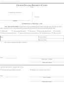 Form Ao 83 - Summons In A Criminal Case - United States District Court