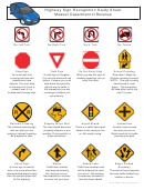 Form 4869 - Highway Sign Recognition Study Sheet - Missouri Department Of Revenue
