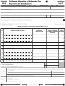 Form 541-t - California Allocation Of Estimated Tax Payments For Beneficiaries - 2012