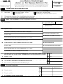 Form 5500-ez - Annual Return Of One-participant (owners And Their Spouses) Retirement Plan - 2011