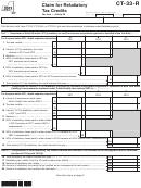 Form Ct-33-r - Claim For Retaliatory Tax Credits - 2013
