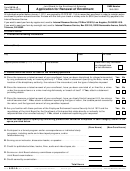 Form 5434-a - Application For Renewal Of Enrollment