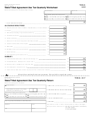 Form 4052 - State/tribal Agreement Use Tax Quarterly Worksheet/form 4017 - State/tribal Agreement Use Tax Quarterly Return