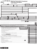 Form Ct-32-a - Banking Corporation Combined Franchise Tax Return - 2013