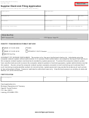 Form 4001 - Supplier Electronic Filing Application
