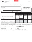Form Alc 36 B2a/s (a) - Annual Ohio Wine Tax Return For B2a And/or S Permit Holders
