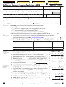Form 540 2ez C1 - California Resident Income Tax Return - 2012