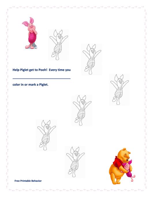 Help Piglet Get To Pooh Color Behavior Chart