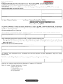 Form 4239 - Tobacco Products Electronic Funds Transfer (eft) Credit Application