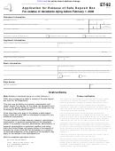 Form Et-92 - New York Application For Release Of Safe Deposit Box