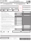 Form It-140 Nrc - West Virginia Nonresident Composite Return - 2011