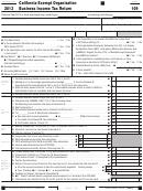 Form 109 - California Exempt Organization Business Income Tax Return - 2013