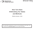 New York State Withholding Tax Tables And Methods