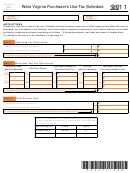 Schedule Ut (form It-140) - West Virginia Purchaser's Use Tax Schedule - 2011