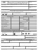 Form 4422 - Application For Certificate Discharging Property Subject To Estate Tax Lien