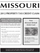 Property Tax Credit Claim - 2012