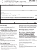 Form Ct-2658-e - Certificate Of Exemption From Partnership Estimated Tax Paid On Behalf Of Corporate Partners