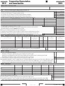 California Form 3885 - Corporation Depreciation And Amortization - 2012