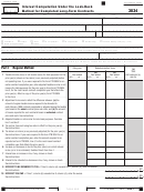 California Form 3834 - Interest Computation Under The Look-back Method For Completed Long-term Contracts