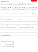 Form 3945 - State Tax Commission Computerized Tax Roll Recertification