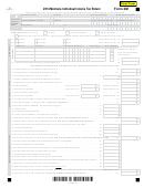 Form 2m - Montana Individual Income Tax Return - 2014