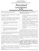 Form Com/mft-104 - License Application For The International Fuel Tax Agreement (ifta)