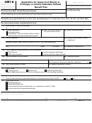 Form 4461-a - Application For Approval Of Master Or Prototype Or Volume Submitter Defined Benefit Plan