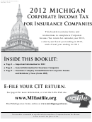 Form 4905 - Insurance Company Annual Return For Corporate Income And Retaliatory Taxes - 2012