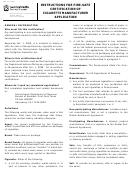 Instructions For Form Das-115 - Fire-safe Certification Of Cigarette Manufacturer Application