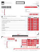 Form Dr-145x - Oil Production Monthly Amended Tax Return
