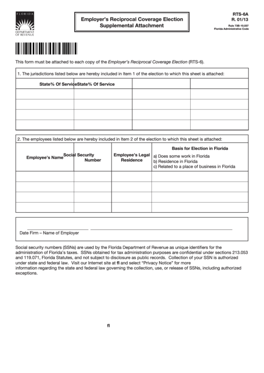 Form Rts-6a - Employer
