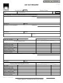 Form Dr-518 - Cut Out Request
