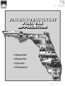 Form Dr-156t - Florida Temporary Fuel Tax Application
