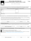 Form Dr-482hw - Application And Return For High-water Recharge Classification Of Lands