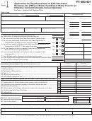 Form Ft-400/401 - Application For Reimbursement Of Nys Petroleum Business Tax (pbt) On Motor Fuel/diesel Motor Fuel For An Omnibus Carrier-nonpublic School Operator