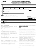 Form W-13 - Exstars Reporting Information Request For Employer Identification Number And Certification