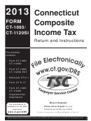 Form Ct-1065/ Ct-1120si - Connecticut Composite Income Tax Return And Instructions - 2013
